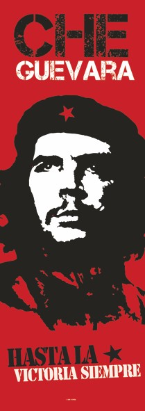 SALE DOOR FLAG CHEGUEVARA - HASTA LA VICTORIA