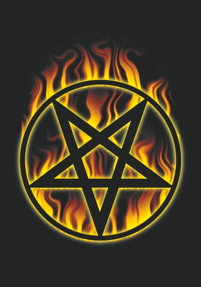 SALE FLAG BURNING PENTACLE