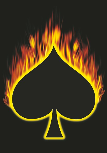 SALE FLAG FLAMING ACE OF SPADES