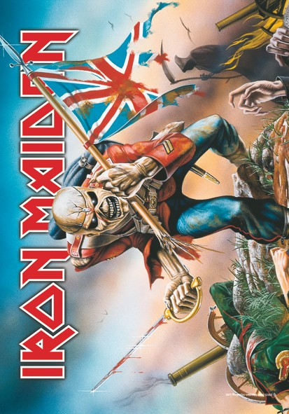 SALE FLAG IRON MAIDEN - TROOPER
