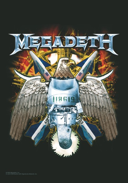SALE FLAG MEGADETH - EAGLE