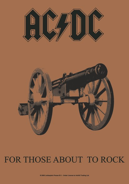 SALE FLAG AC/DC - FOR THOSE ABOUT TO ROCK