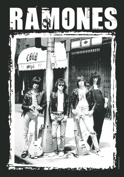 SALE FLAG RAMONES - CBGB PHOTO