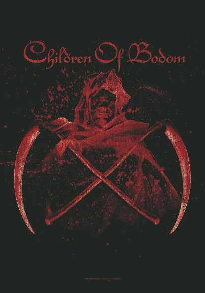 SALE FLAG CHILDREN OF BODOM - CROSSED SCYTHES