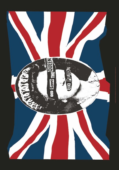 SALE FLAG SEX PISTOLS - GOD SAVE THE QUEEN