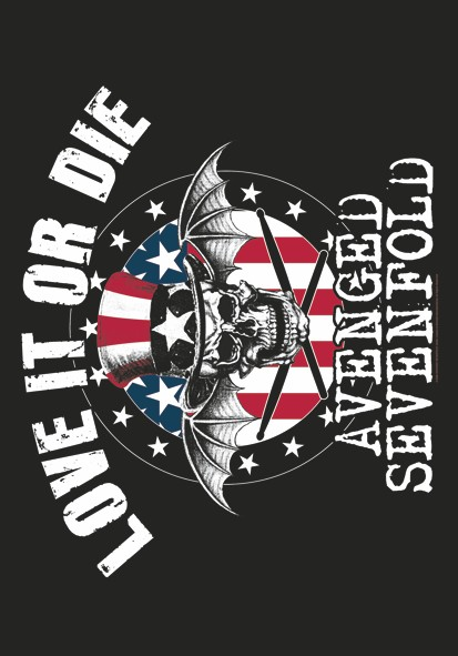 SALE FLAG AVENGED SEVENFOLD - LOVE IT OR DIE