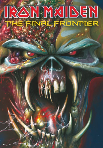 SALE FLAG IRON MAIDEN - FRONTIERS HEAD