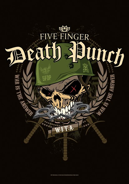 SALE FLAG 5 FINGER DEATH PUNCH - WARHEAD