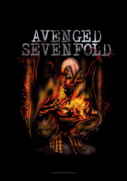 SALE FLAG AVENGED SEVENFOLD - FIRE BAT