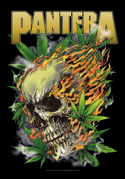SALE FLAG PANTERA - SKULL LEAF