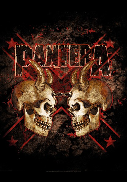 SALE FLAG PANTERA - DOUBLE SKULL