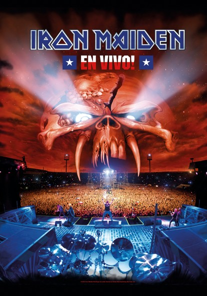SALE FLAG IRON MAIDEN - EN VIVO