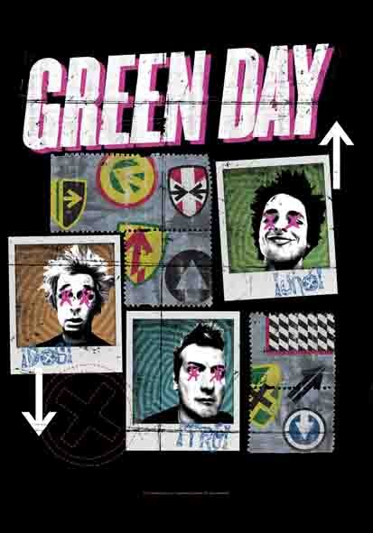 SALE FLAG GREEN DAY - UNO - DOS - TRE