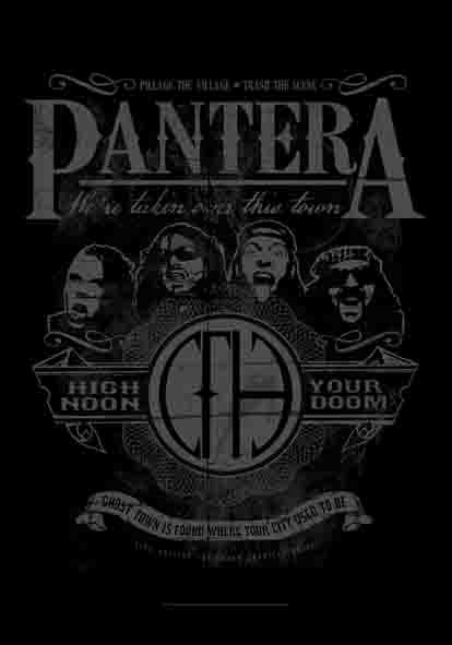 SALE FLAG PANTERA - HIGH NOON YOUR DOOM