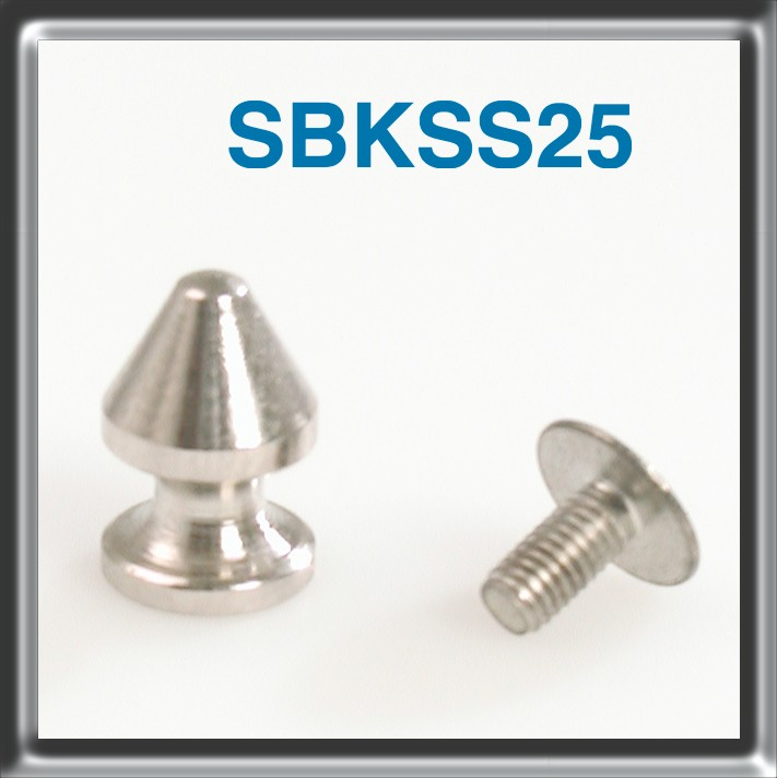 Solid Brass Stud nickel finishing packed in bags of 25 pieces complete with screws