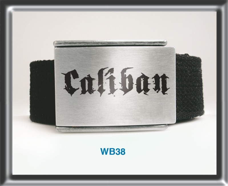 Belt | Polyester Belt - Enamelled Buckle Caliban